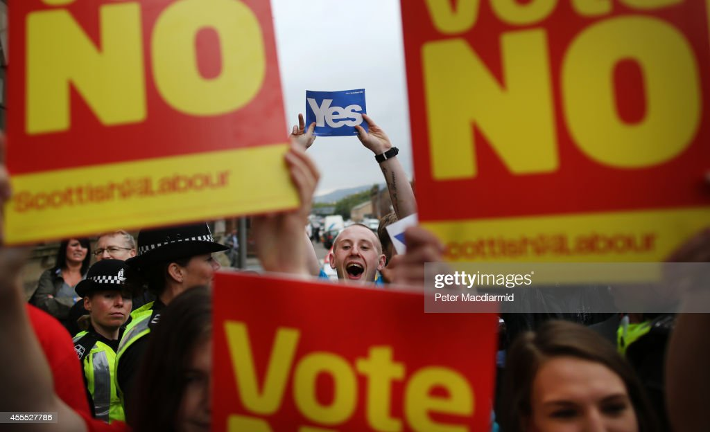 Scottish Referendum Debate Continues As Vote Is Too Close To Call : News Photo
