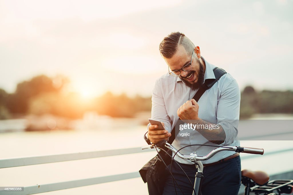 Yes, I did it! : Stock Photo