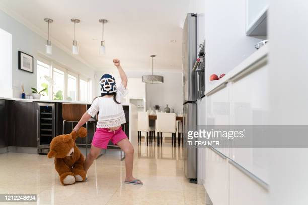 yes i'm the house champion - girl wrestling stock pictures, royalty-free photos & images