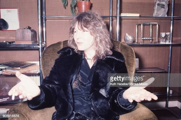 Yes interviewed by Music Life magazine at their office February London United Kingdom Chris Squire