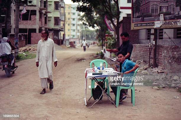 Yes it is another mobile diabetes testing center. Very early in the morning and the diabetic patients are out for a walk....