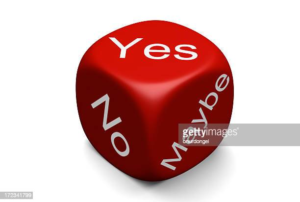 yes, no, maybe - dice stock pictures, royalty-free photos & images