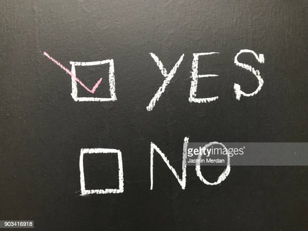 Yes or No on black board