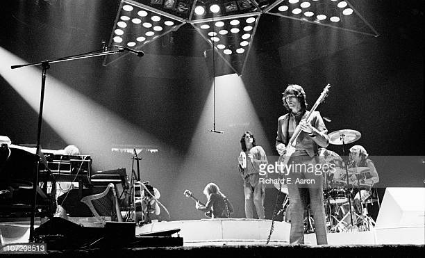 Yes perform live on stage at Madison Square Garden in New York in September 1978 LR Rick Wakeman Steve Howe Jon Anderson Chris Squire Alan White
