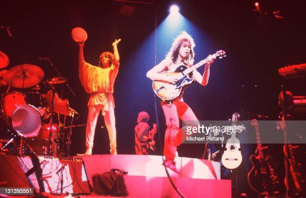 Yes perform on stage at Madison Square Garden New York September 1978 Jon Anderson Steve Howe