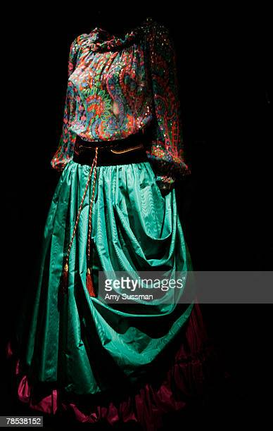 Yes Saint Laurent evening ensemble is displayed at the Blogmode addressing fashion exhibit at the Metropolitan Museum of Art's Costume Institute on...
