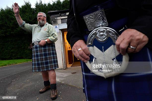 Yes voter Duncan Thomson stands outside St Martins Church hall polling station after casting his vote as the people of Scotland take to the poles to...