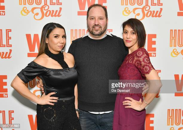 Yessica Garcia Dan Cesareo and Shelley Sinha attend Wetv's Hustle Soul Season 2 Premiere Celebration on March 19 2018 in New York City