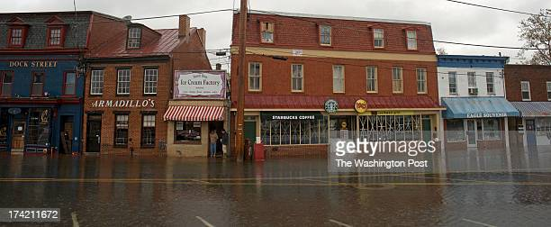 Yesterday's Hurricane Sandy has caused the City Dock to flood again in Annapolis Maryland on October 30 2012 Some businesses are still closed Most of...