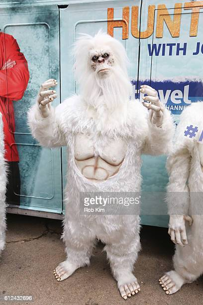 Yeti poses for a photo to promote 'Expedition Unknown Hunt For The Yeti' at Flatiron Pedestrian Plaza on October 4 2016 in New York City