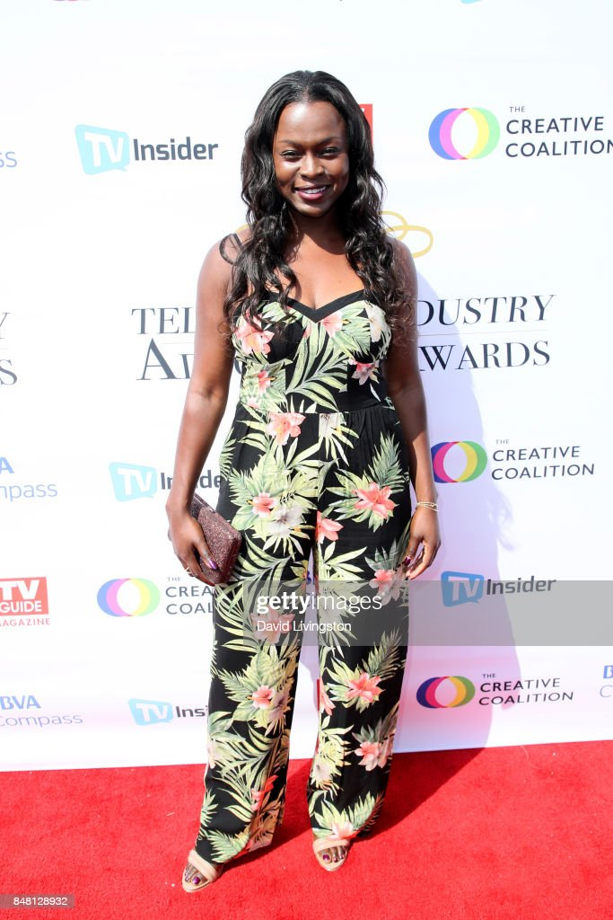 Yetide Badaki at the Television Industry Advocacy Awards at TAO Hollywood on September 16, 2017 in Los Angeles, California.