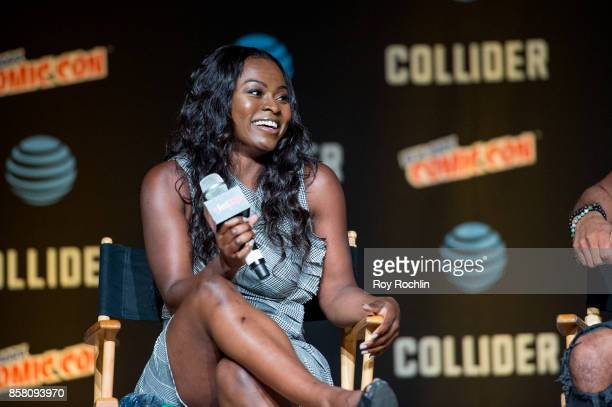 Yetide Badaki discusses 'American Gods' during 2017 New York Comic Con Day 1 on October 5 2017 in New York City