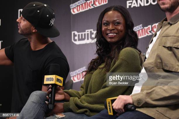 Yetide Badaki of American Gods speaks onstage during IMDb LIVE at NY ComicCon at Javits Center on October 7 2017 in New York City