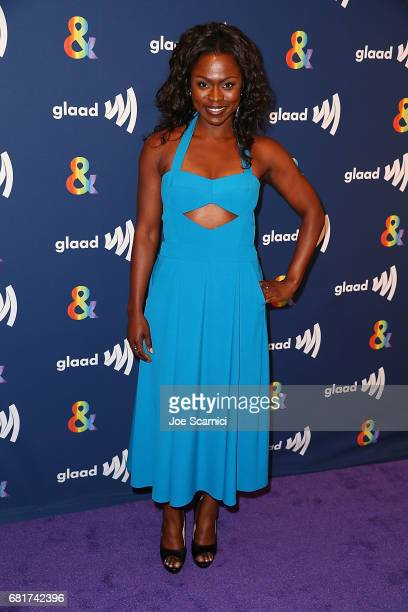 Yetide Bakadi arrives at the 'American Gods' advance screening In Partnership with GLAAD at The Paley Center for Media on May 10 2017 in Beverly...