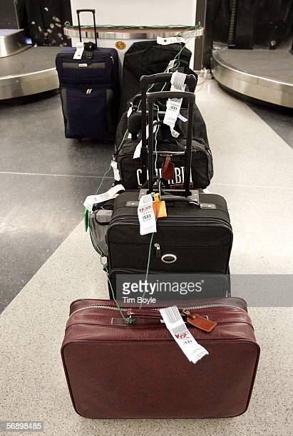 Yettobeclaimed luggage is seen at the Delta laggage claim area February 21 2006 at O'Hare International Airport in Chicago Illinois 2005 was...