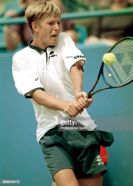 Yevgeny Kafelnikov of Russia in action during the US Open at the USTA National Tennis Center circa September 1994 in Flushing Meadow New York USA