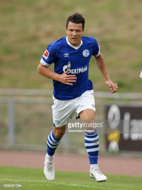 Yevhen Konoplyanka of Schalke 04 during the Club Friendly match between Schalke 04 v Schwarz Weiss Essen at the Uhlenkrugstadion on July 21 2018 in...
