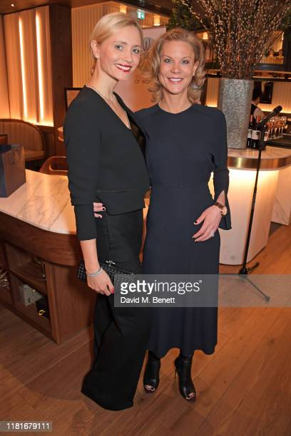 Yfke Sturm and Amanda Staveley attend a lunch hosted by Amanda Staveley for 'Wellbeing Of Women', Britain's foremost female health charity investing...