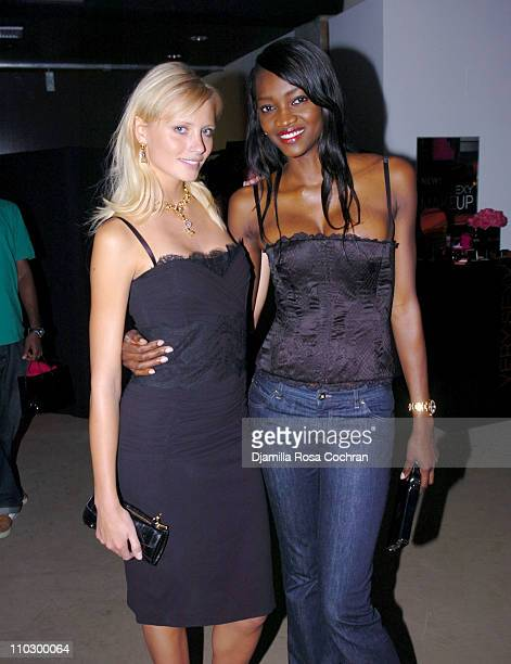 Yfke Sturm and Oluchi Onweagba during Victoria's Secret Launches Very Sexy Makeup After Party at Xchange in New York City New York United States