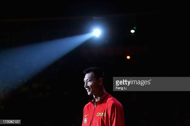 Yi Jianlian of China attends the 2013 Yao Foundation Charity Game between China and the NBA Stars on July 1 2013 in Beijing China