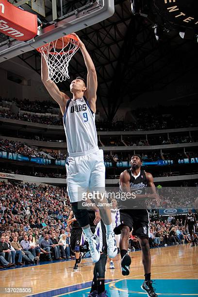 Yi Jianlian of the Dallas Mavericks dunks against the Sacramento Kings on January 14 2012 at the American Airlines Center in Dallas Texas NOTE TO...