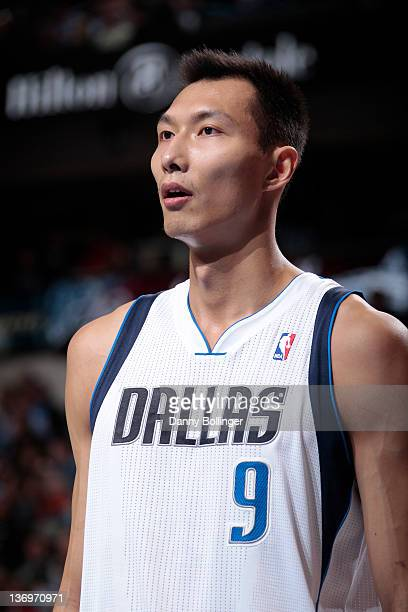 Yi Jianlian of the Dallas Mavericks during a game against the Milwaukee Bucks on January 13 2012 at the American Airlines Center in Dallas Texas NOTE...