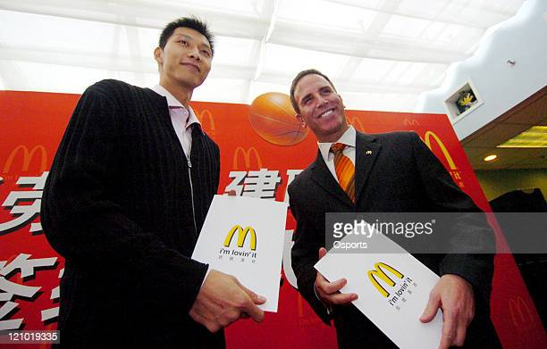 Yi Jianlian of the Guangdong Hongyuan Basketball Club becomes the spokesman of McDonalds. Yi Jianlian, who is cleared to enter the 2007 NBA draft, is...