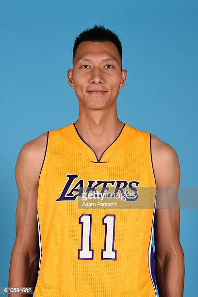 Yi Jianlian of the Los Angeles Lakers poses for a headshot during 20162017 Los Angeles Lakers Media Day at Toyota Sports Center on September 26 2016...
