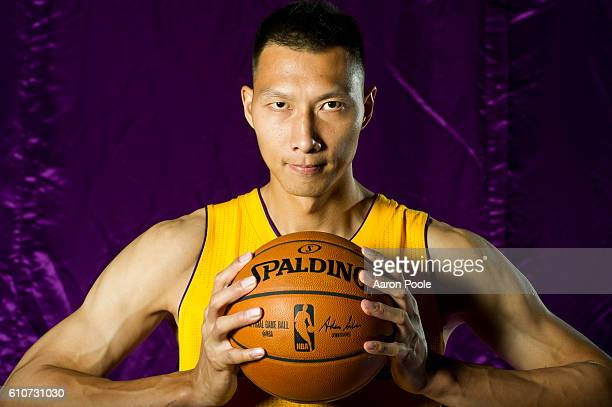 Yi Jianlian of the Los Angeles Lakers poses for a portrait during the 20162017 Los Angeles Lakers Media Day at Toyota Sports Center on September 26...