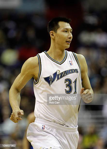 Yi Jianlian of the Washington Wizards against the Dallas Mavericks at the Verizon Center on February 26 2011 in Washington DC NOTE TO USER User...