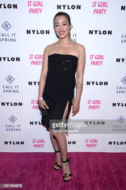 Yi Zhou attends NYLON's annual It Girl Party sponsored by Call It Spring at Ace Hotel on October 11 2018 in Los Angeles California