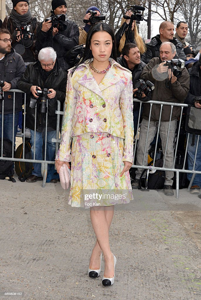 Yi Zhou attends the Chanel show as part of the Paris Fashion Week Womenswear Fall/Winter 2015/2016 on March 10, 2015 in Paris, France.