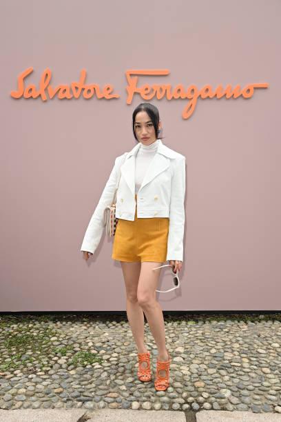 ITA: Salvatore Ferragamo - Arrivals - Milan Fashion Week Spring/Summer 2022