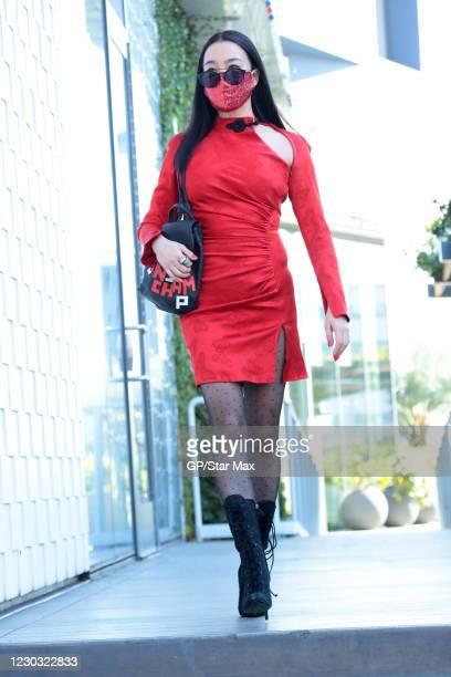 Yi Zhou is seen on December 27, 2020 in Los Angeles, California.