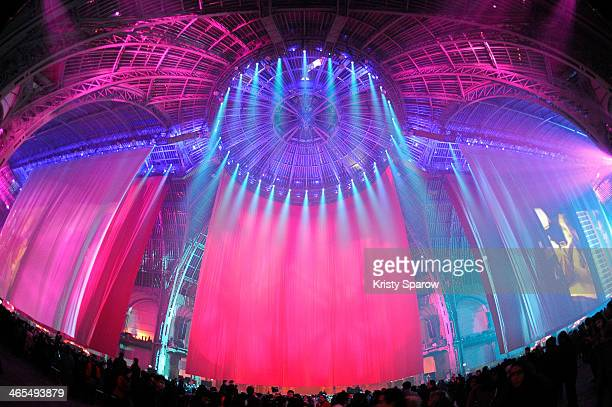 Yi Zhou shows her 3D animations during 'Nuit De La Chine' at Grand Palais on January 27 2014 in Paris France