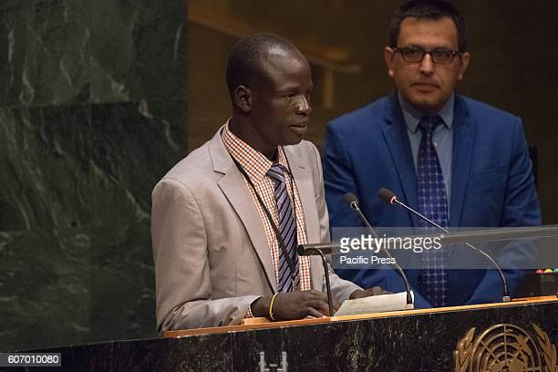 Yiech Pur Biel addresses the General Assembly. Three days before the opening of the United Nations high-level Summit on Addressing Large Movements of...