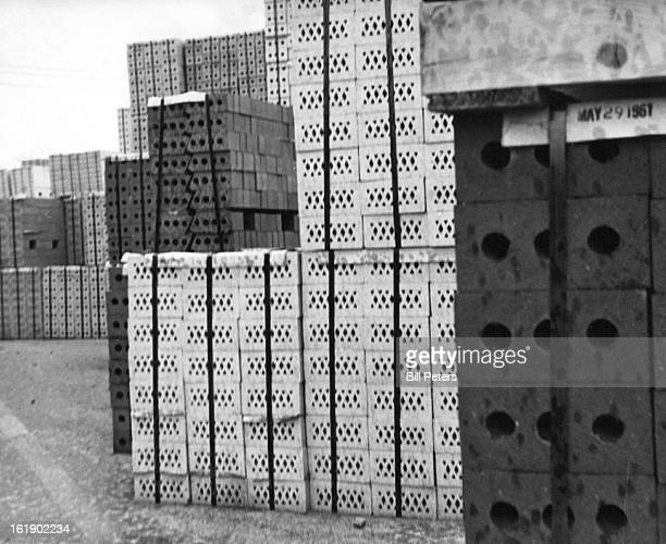 AUG 17 1961 SEP 17 1961 Yield 12000 bricks Baked and sorted finished bricks baled in packages of 300 waiting to be sold