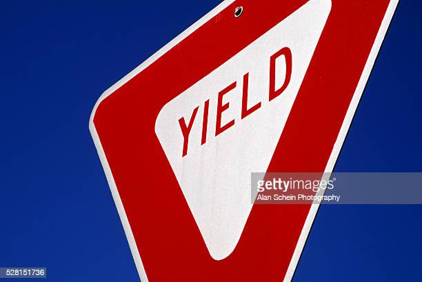 yield sign - give way stock pictures, royalty-free photos & images