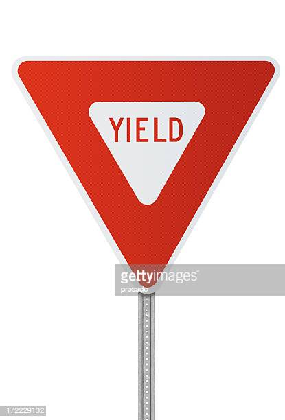 Yield Sign with Clipping Path
