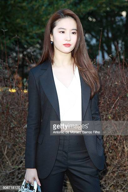 Yifei Liu attends the Christian Dior Haute Couture Spring Summer 2016 show as part of Paris Fashion Week on January 25 2016 in Paris France