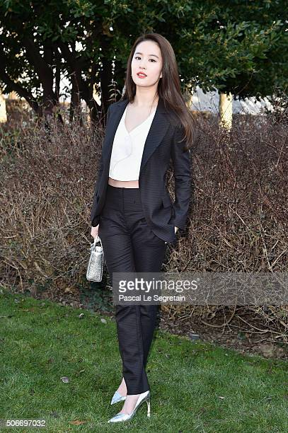 Yifei Liu attends the Christian Dior Spring Summer 2016 show as part of Paris Fashion Week on January 25, 2016 in Paris, France.