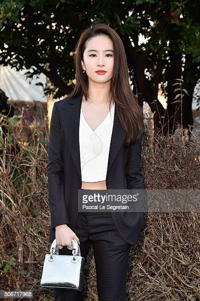 Yifei Liu attends the Christian Dior Spring Summer 2016 show as part of Paris Fashion Week on January 25 2016 in Paris France