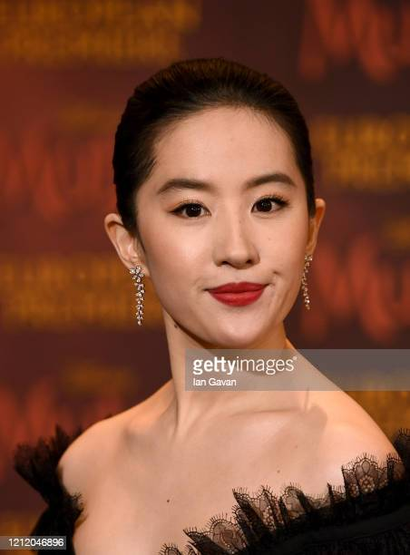Yifei Liu attends the European Premiere of Disney's MULAN at Odeon Luxe Leicester Square on March 12 2020 in London England