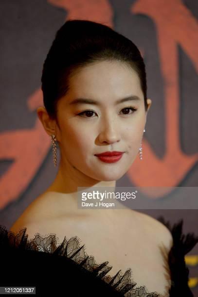 Yifei Liu attends the Mulan photocall at Trafalgar Hotel on March 13 2020 in London England
