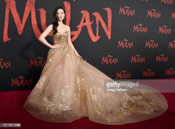 Yifei Liu attends the Premiere Of Disney's Mulan on March 09 2020 in Hollywood California