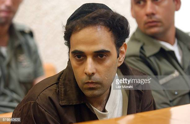 Yigal Amir the convicted assassin of former Prime Minister Yitzhak Rabin at the Israeli High Court of Justice in Jerusalem Wednesday July 28 2004...