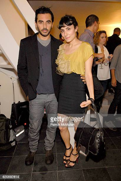 Yigal Azrouel and Amanda Garcia Santana attend ELETTRA WIEDEMANN and JAMES MARSHALL launch JustOneFrickinDaycom At the Newly Imagined MORGANS HOTEL...