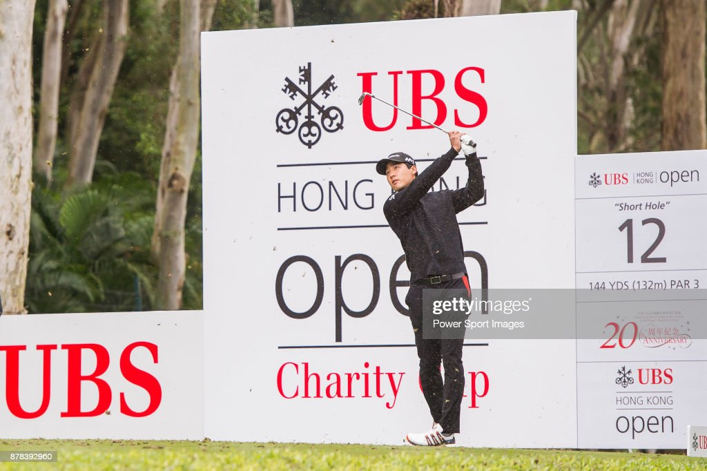 Yikeun Chang of Korea tees off during round two of the UBS Hong Kong Open at The Hong Kong Golf Club on November 24, 2017 in Hong Kong, Hong Kong.