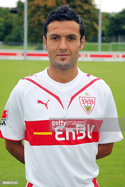 Yildiray Bastuerk poses during the 1st Bundesliga Team Presentation of VfB Stuttgart on July 10 2009 in Stuttgart Germany