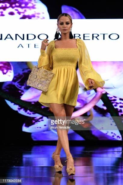 Yilena Hernandez walks the runway during FERNANDO ALBERTO ATELIER At New York Fashion Week Powered by Art Hearts Fashion NYFW September 2019 at The...